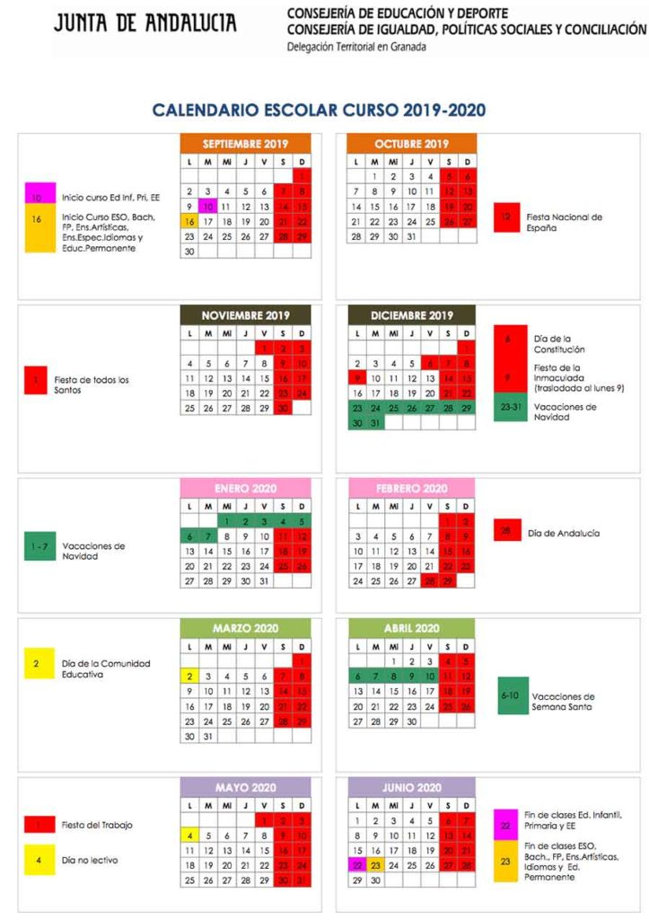 Calendario-escolar-Granada